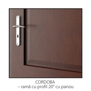 Cordoba rama cu profil 20 grade cu panou detaliu usi interior lemn cu furnir natural Porta Doors