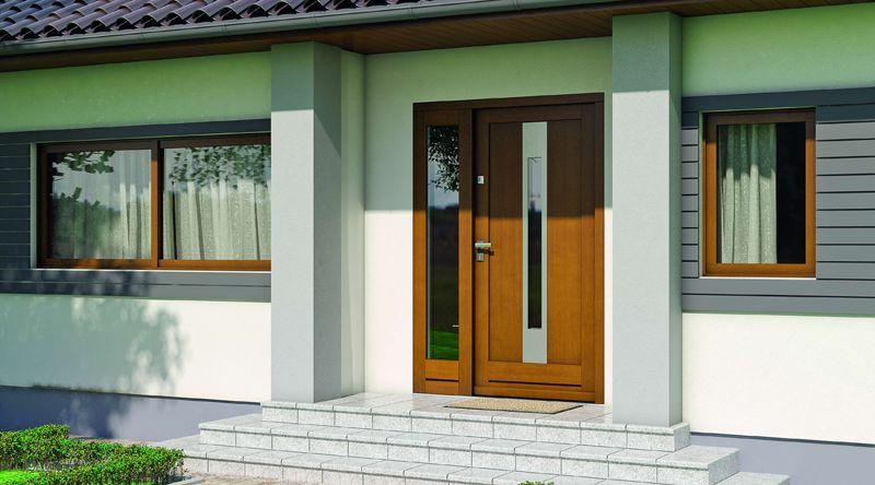 Eco Nord gama de usi exterior lemn stratificat de stejar cu miez termoizolant Porta Doors - usamea