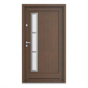 Eco Nord model 1 usa de exterior pentru intrare in casa din lemn stratificat de stejar - Porta Doors prin Usamea.ro