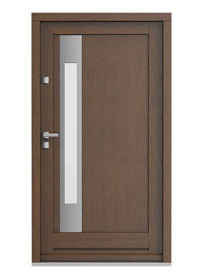 Eco Nord model 2 usa de exterior pentru intrare in casa din lemn stratificat de stejar - Porta Doors prin Usamea.ro
