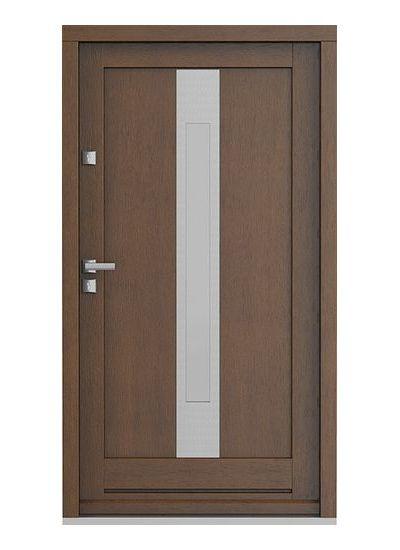 Eco Nord model 3 usa de exterior pentru intrare in casa din lemn stratificat de stejar - Porta Doors prin Usamea.ro