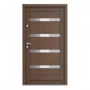 Eco Nord model 4 usa de exterior pentru intrare in casa din lemn stratificat de stejar - Porta Doors prin Usamea.ro