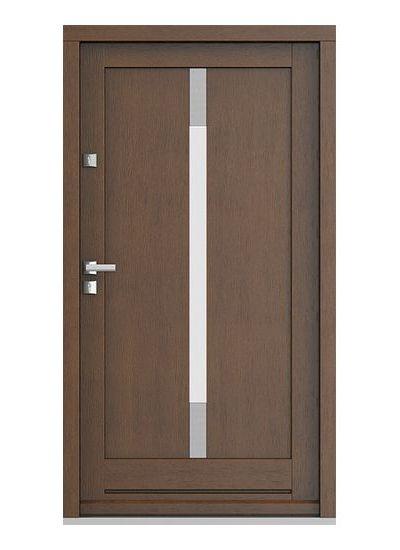 Eco Nord model 5 usa de exterior pentru intrare in casa din lemn stratificat de stejar - Porta Doors prin Usamea.ro