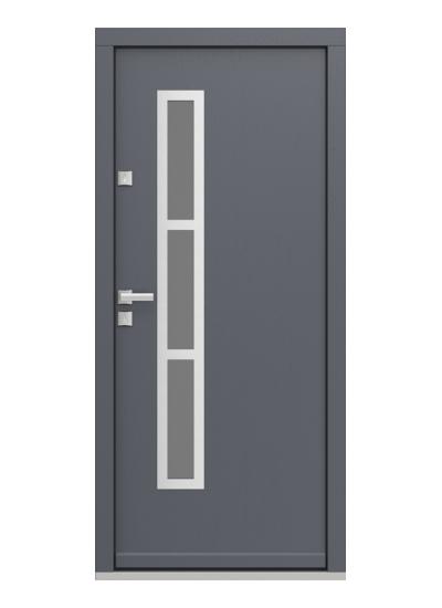 Eco Polar Pasiv model 1 usa de exterior pentru intrare in casa din lemn stratificat de stejar - Porta Doors