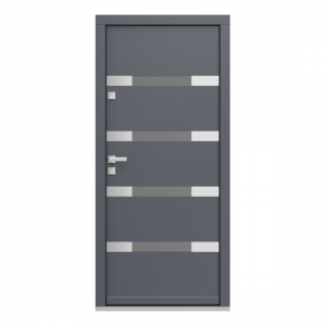 Eco Polar Pasiv model 4 usa de exterior pentru intrare in casa din lemn stratificat de stejar - Porta Doors