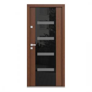 Eco Polar Pasiv model C.4 usa de exterior pentru intrare in casa din lemn stratificat de stejar Porta Doors