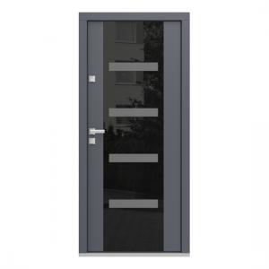 Eco Polar Pasiv model C.4 usa de exterior pentru intrare in casa din lemn stratificat de stejar - Porta Doors
