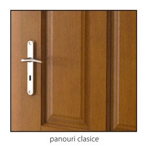 Malaga panouri clasice detaliu usi interior lemn cu furnir natural Porta Doors