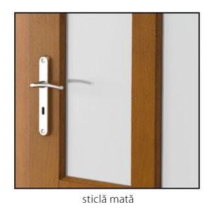 Malaga sticla mata detaliu usi interior lemn cu furnir natural Porta Doors