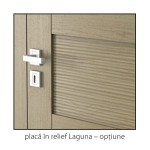 Natura Concept placa in relief Laguna detaliu usi interior lemn cu furnir natural Porta Doors
