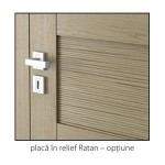 Natura Concept placa in relief Ratan detaliu usi interior lemn cu furnir natural Porta Doors