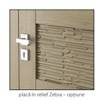 Natura Concept placa in relief Zebra detaliu usi interior lemn cu furnir natural Porta Doors
