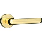 Porta Accent auriu lucios maner usi interior cu rozeta