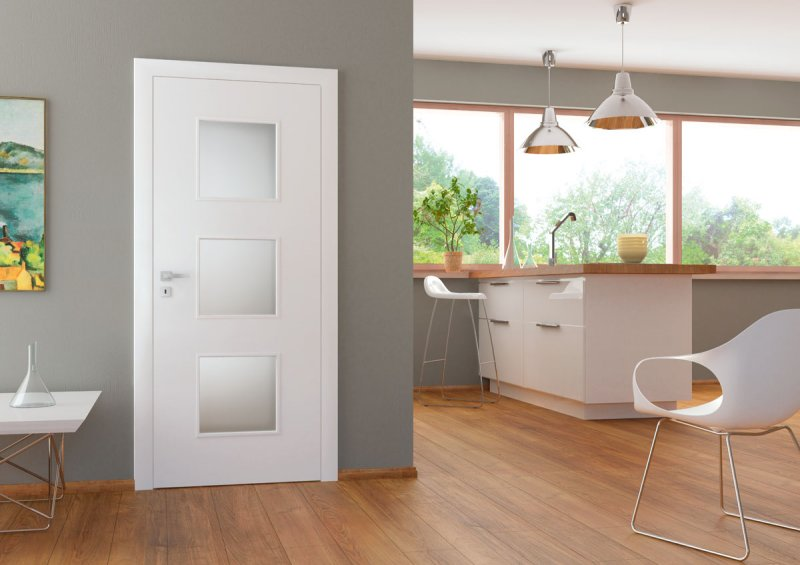 Porta Fit C.3 - model usi inteior cuoare alba din lemn Porta Doors