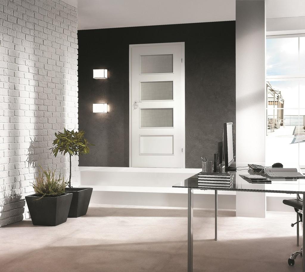 Porta Fit H.3 - model usi interior culoare alba din lemn Porta Doors