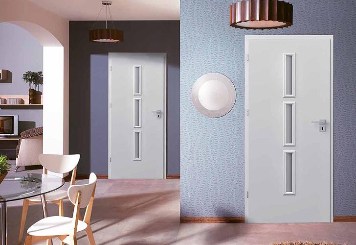 Porta Granddeco - modele usi inteiror culoare alba din lemn Porta Doors