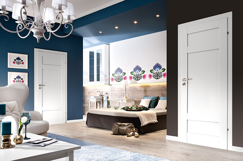 Porta Grande E.0 - model usi interior culoare alba din lemn Porta Doors