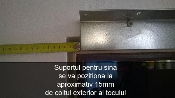 Pozitionarea suportului pentru sina de glisare la montaj usi glisante interior Porta Doors