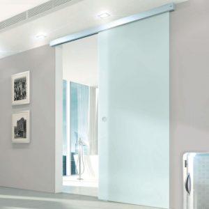 Usa glisanta de interior cu sistem Dorma Muto Comfort cu aplicare pe tavan