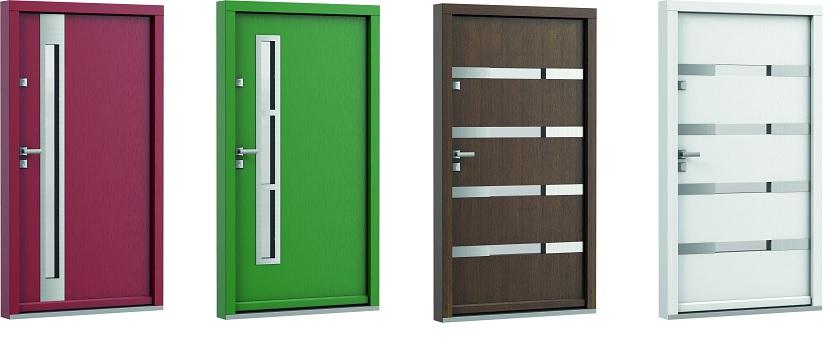 Varietate de culori  pentru usi exterior din lemn stratificat de stejar  Porta Doors - Usamea.ro