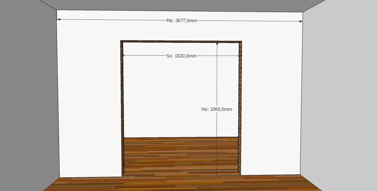 dimensiune camera si gol de zidarie pentru usi glisante duble