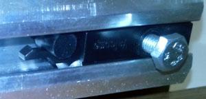 limitatorul cu clips pentru usa glisanta