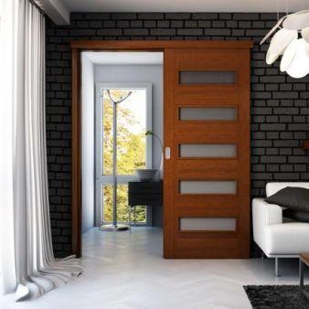 sistem de glisare pe perete pentru usi glisante interior Porta Doors 4 simplu