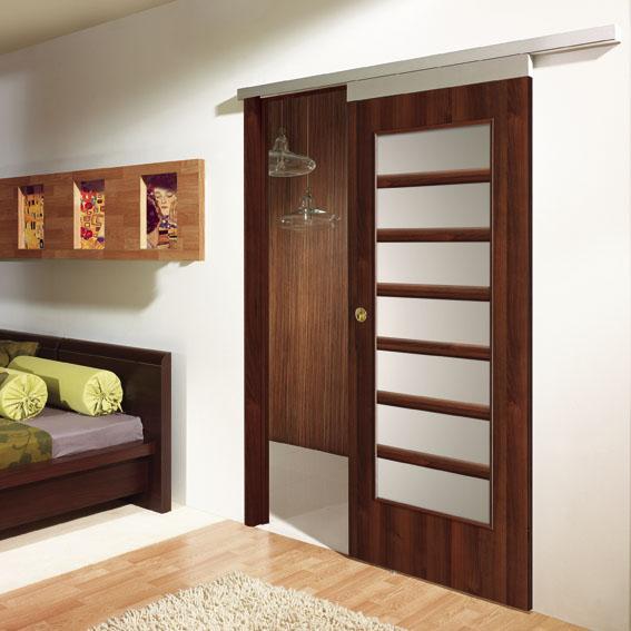 Usi glisante interior pe perete cu sistem Alu din aluminiu Porta Doors