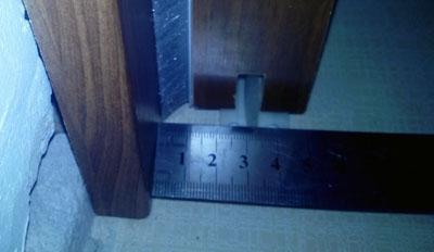 sugestie de pozitionare ghidaj inferior pentru usa glisanta